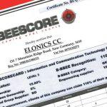Elonics B-BBEE Certificate